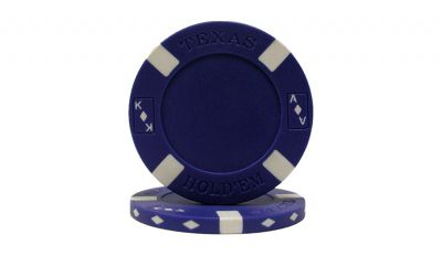 Blue big slick poker chip