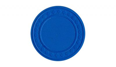 Blue super diamond poker chip