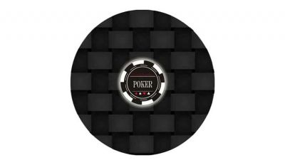 Round poker layout 7