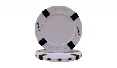 White big slick poker chip