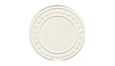 White super diamond poker chip