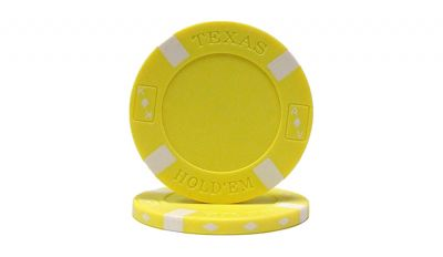 Yellow big slick poker chip