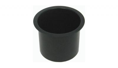 Jumbo aluminum black cup holder
