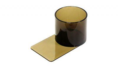Plastic slide under cup holder