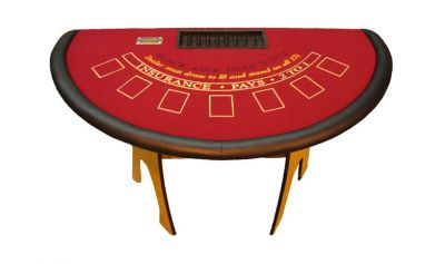 H style folding blackjack table made in the usa