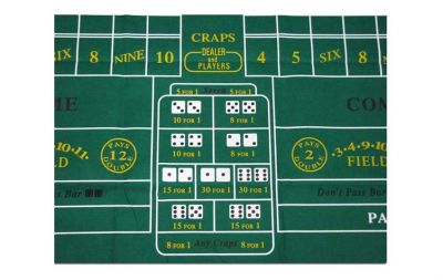 Green craps layout